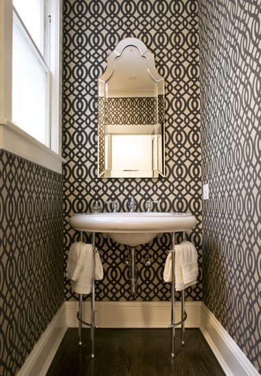 Powder Room design, lighting & accessories