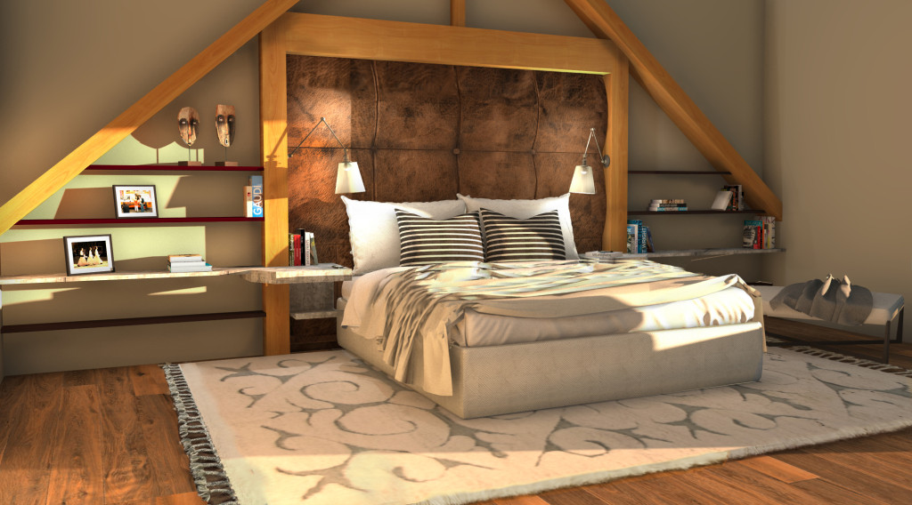 Realistic Visual Walk Through of Bedroom Redesign