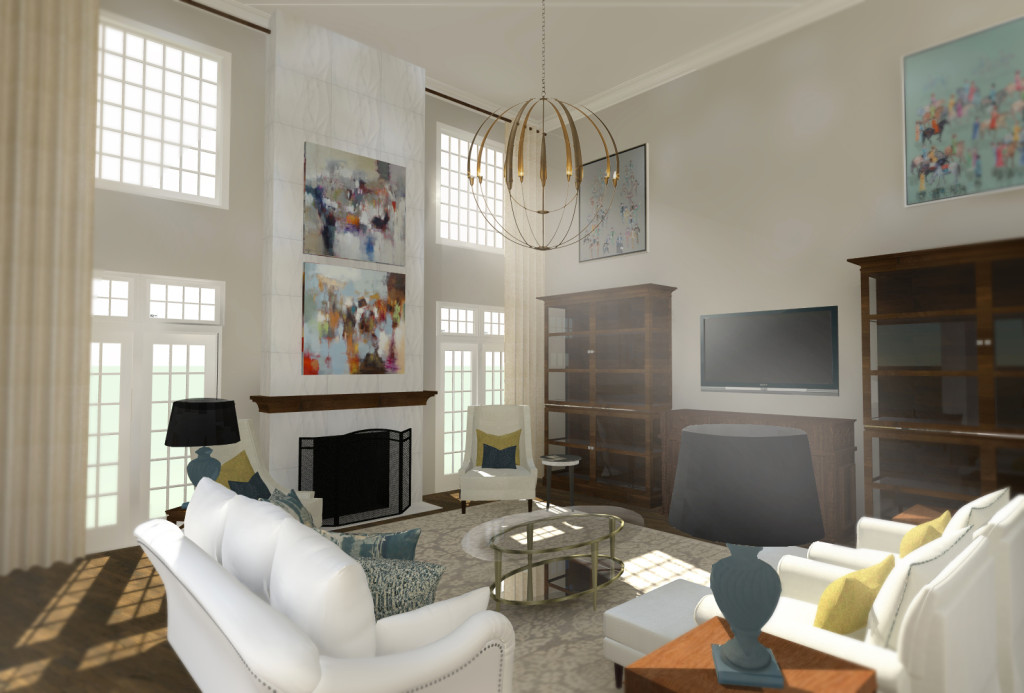 3D Rendering of Living Room