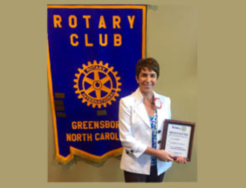 Marta Mitchell inducted into Greensboro Rotary